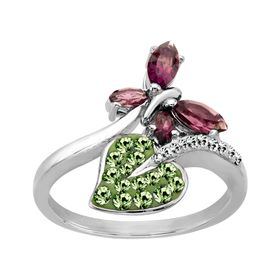 Butterfly Ring with Swarovski Crystal