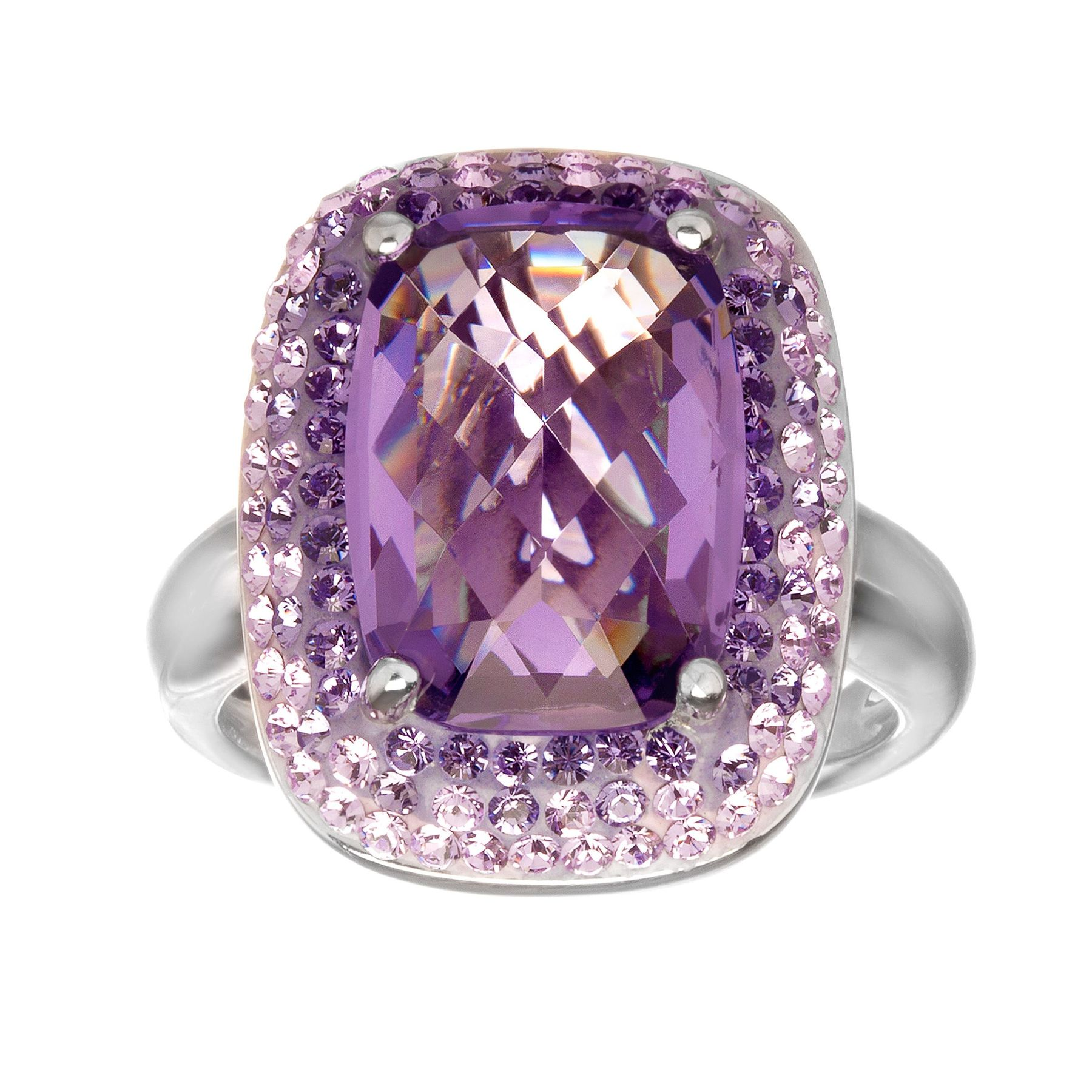 Crystaluxe Lavender Ring with Swarovski