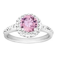 55552f115 Crystaluxe Solitaire Ring with Swarovski Crystal in 18K Rose Gold ...