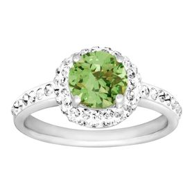 August Ring with Green Swarovski Crystal
