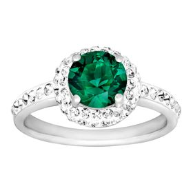May Ring with Green Swarovski Crystal