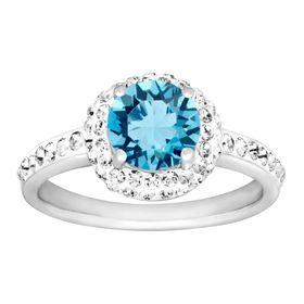 March Ring with Light Blue Swarovski Crystal