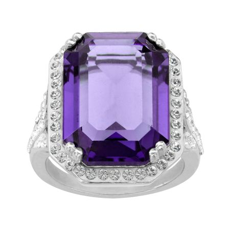c5bc50612 Crystaluxe Ring with Purple & White Swarovski Crystals in Sterling ...