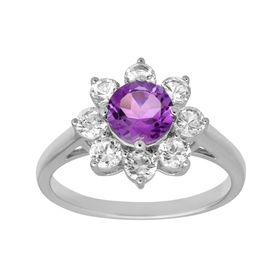 1 7/8 ct Amethyst & White Sapphire Ring