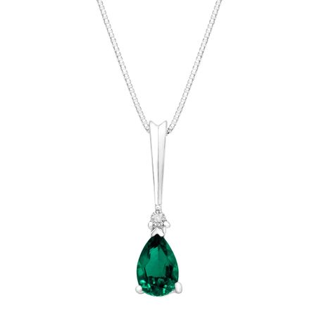 1 1/5 ct Emerald Pendant with Diamonds