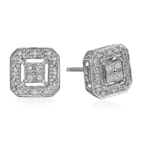 1/10 ct Diamond Octagon Stud Earrings