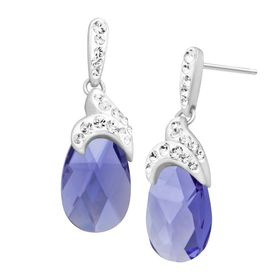 Drop Earrings with Swarovski Crystal