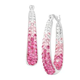Hoop Earrings with Swarovski Crystals
