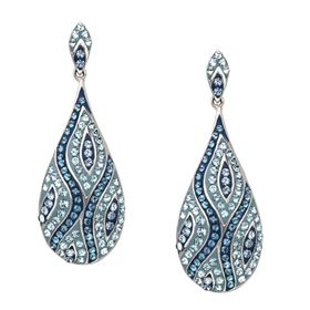 Teardrop Earrings with Swarovski Crystals