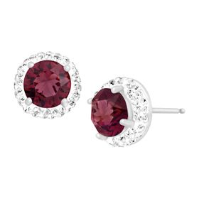 January Earrings with Burgundy Swarovski Crystals