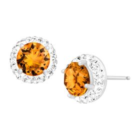 November Earrings with Yellow Swarovski Crystals
