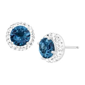 September Earrings with Royal Blue Swarovski Crystals