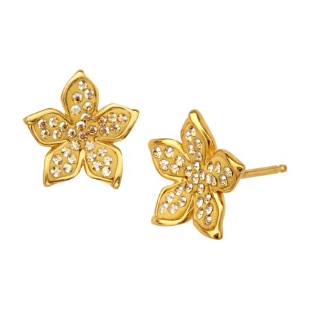 stud flower cubic earrings floral crystal zirconia bridesmaid bridal earings cz