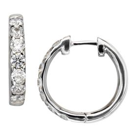 Hoop Earrings with Swarovski Zirconia