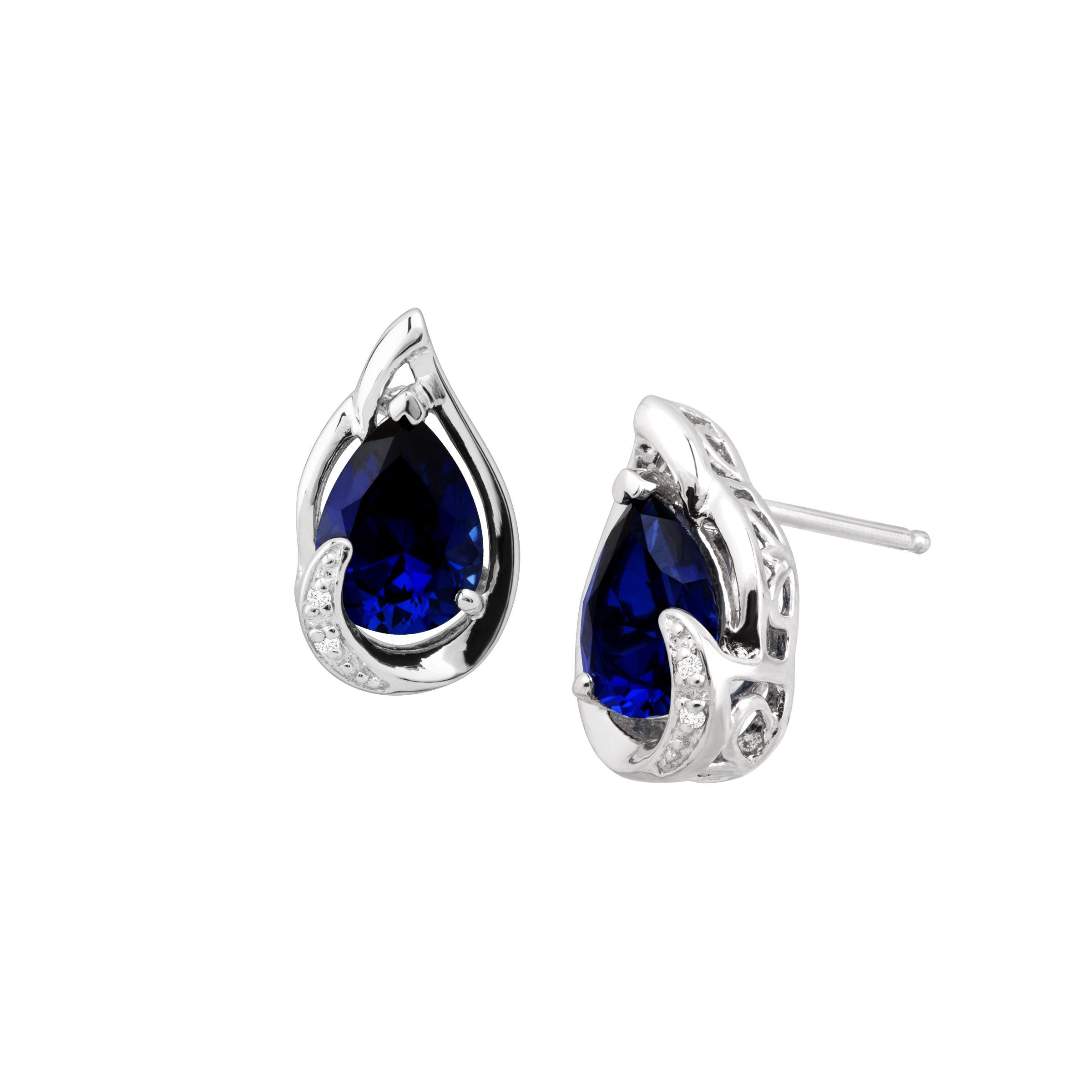 in collection around pave sapphire all earrings stud diamond with collections arrivals blue gold yellow new tresor