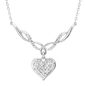 Heart Necklace with Swarovski Crystal