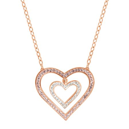 daadd3ac9 Crystaluxe Concentric Suspended Heart Necklace with Swarovski ...