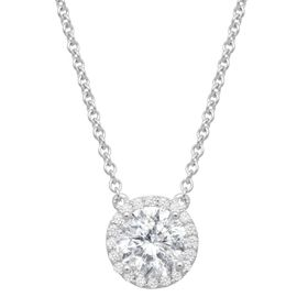 Halo Necklace with Swarovski Zirconia