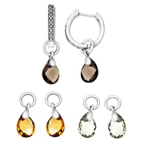 Interchangeable Multi-Stone Earrings with Diamonds