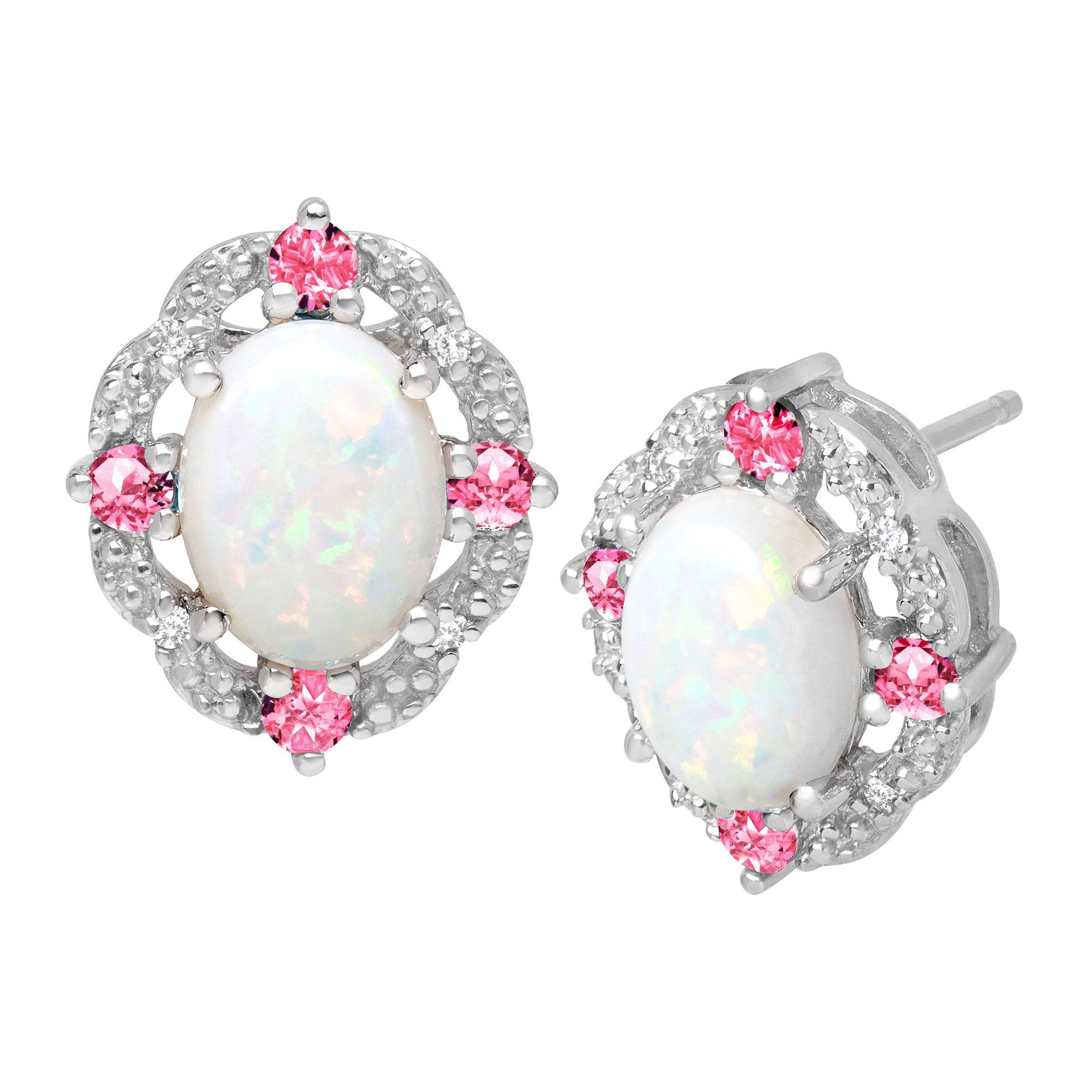 stud pink front manning stone products melissa freeform mjm sapphire earring earrings joy