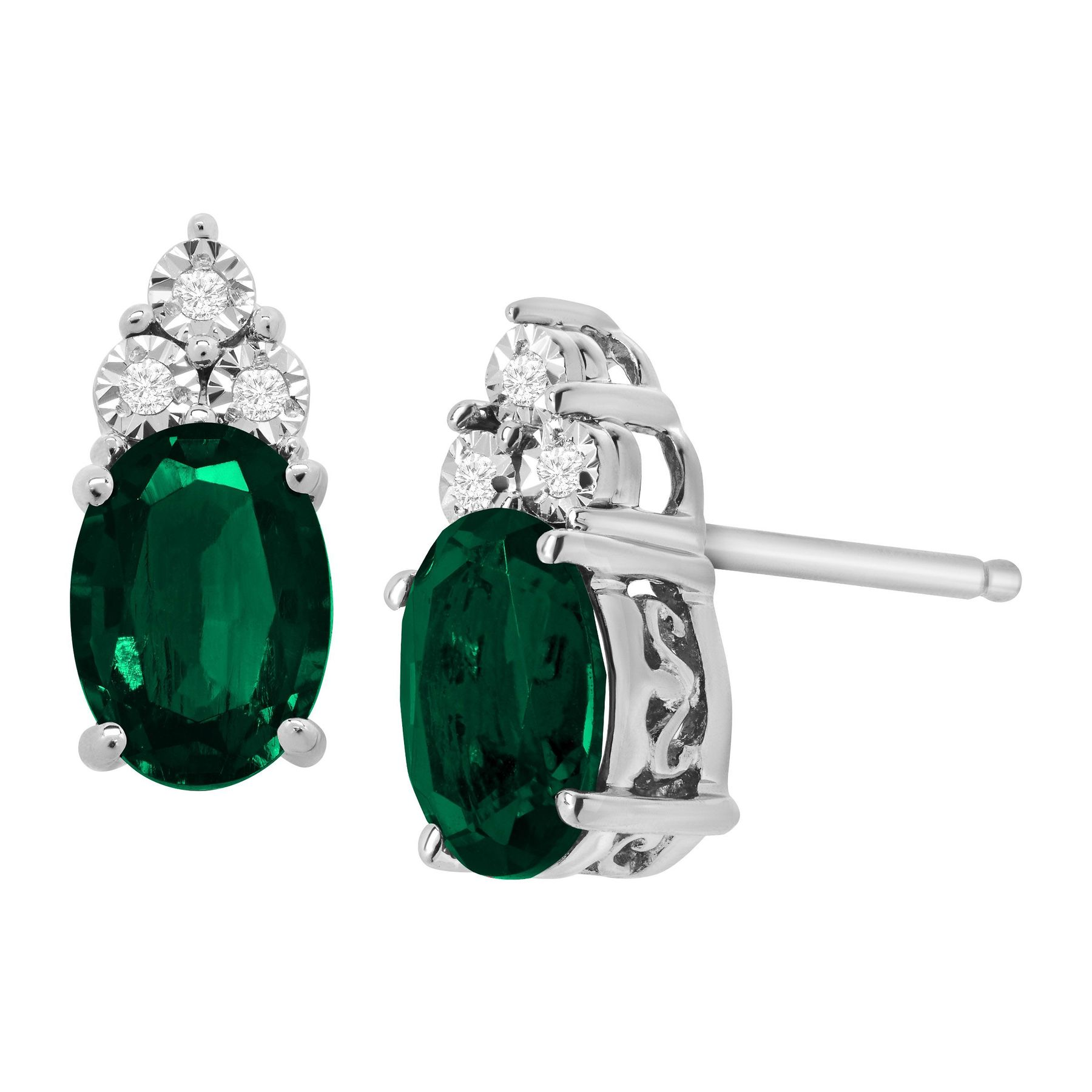 fascinating cut emerald gold her stud nl gifts wg with halo jewelry earrings for in diamond white