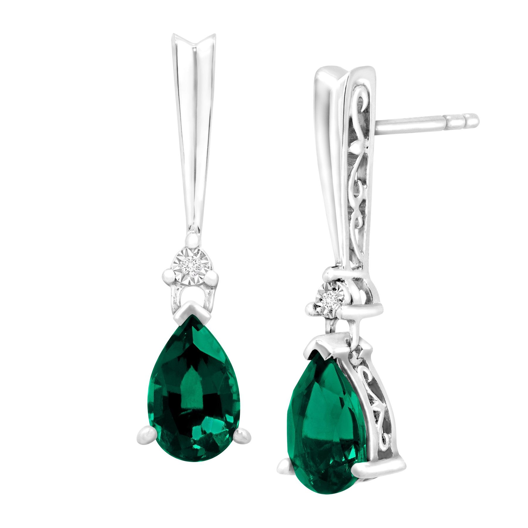 diamonds arrivals emeralds and raw buy a gold with earrings new img emerald drop rose slice