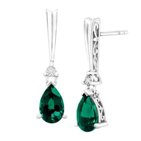71d0ea191 Silver Emerald Earrings Spectacular Deal On Emerald Earrings Jewelry ...