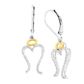 Miracle Drop Earrings with Diamonds
