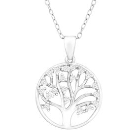 Tree of Love Pendant with Cubic Zirconia