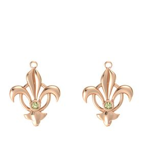 14K Rose Gold Earring with Peridot
