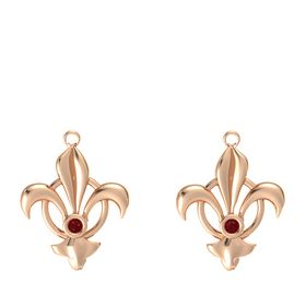 14K Rose Gold Earrings with Ruby