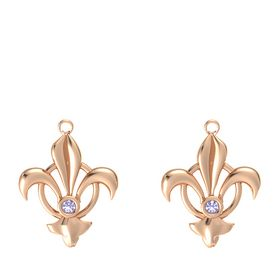 14K Rose Gold Earrings with Tanzanite