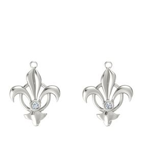 18K White Gold Earrings with Diamond