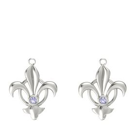 18K White Gold Earring with Tanzanite