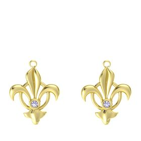18K Yellow Gold Earring with Tanzanite