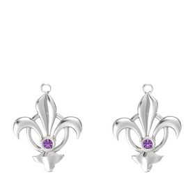 Sterling Silver Earring with Amethyst