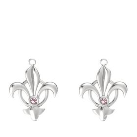 Sterling Silver Earrings with Rhodolite Garnet
