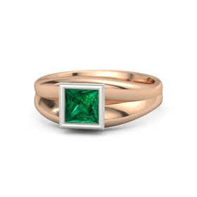 Princess Emerald 14K Rose Gold Ring