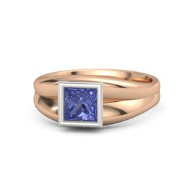 Princess Tanzanite 14K Rose Gold Ring