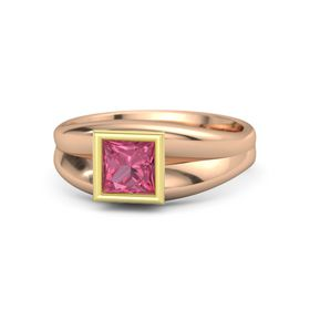 Princess Pink Tourmaline 14K Rose Gold Ring