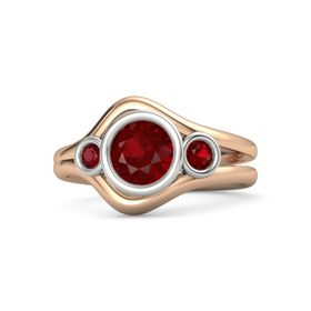 Round Ruby 14K Rose Gold Ring with Ruby