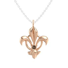 14K Rose Gold Pendant with Smoky Quartz