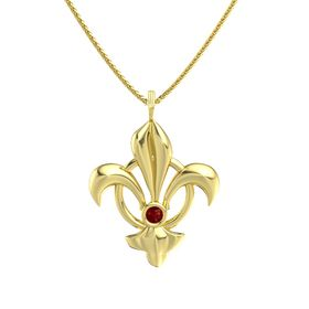 14K Yellow Gold Necklace with Ruby