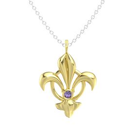 14K Yellow Gold Pendant with Iolite