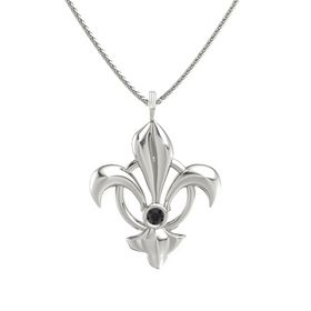 Platinum Pendant with Black Diamond