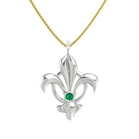 Sterling Silver Pendant with Emerald