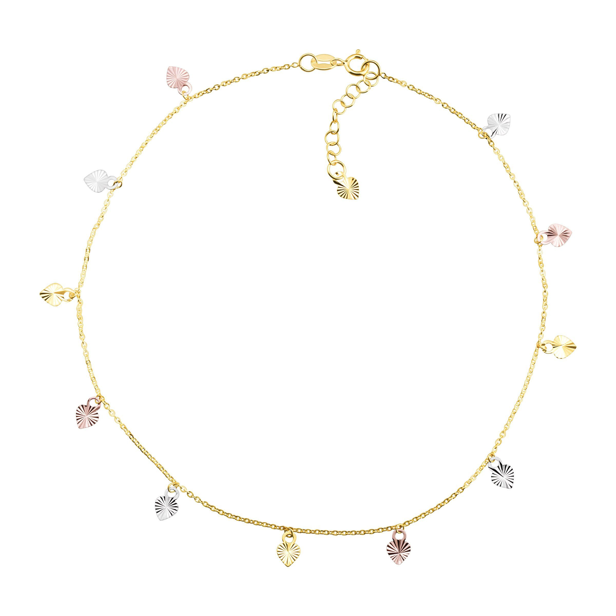 length pin rose with the anklet adjustable gemseller solid clear plated gold swarovski