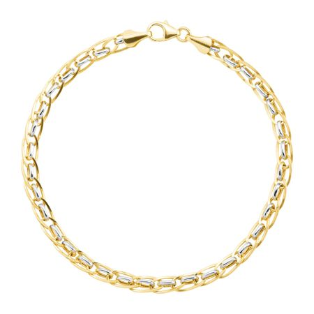 Two-Tone Interlocking Link Bracelet