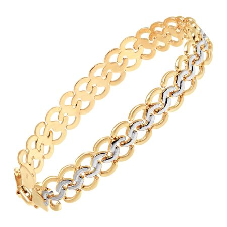 Interlocking Circles Chain Bracelet
