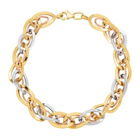 Interlocking Oval Link Bracelet